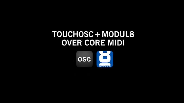 TouchOSC and Modul8 tutorial