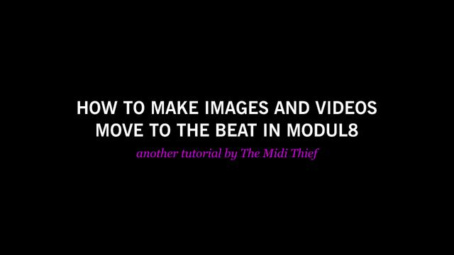 Tutorial: Beat loops in Modul8
